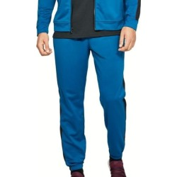 Under Armour Mens Unstoppable Track Pant Blue Large L Side Stripe Jogger (L), Men's(polyester) found on Bargain Bro Philippines from Overstock for $29.68