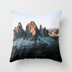 Dolomites Sunset Panorama - Landscape Photography Couch Throw Pillow by Michael Schauer - Cover (16