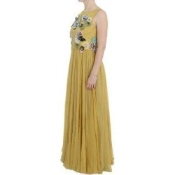 Dolce & Gabbana Yellow Silk Crystal Applique Shift Women's Dress - it46-xl (Yellow - it46-xl) found on Bargain Bro India from Overstock for $6921.70