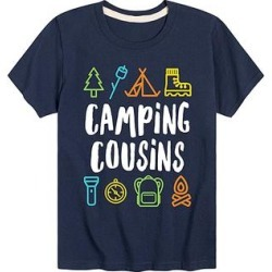 Instant Message Boys' Tee Shirts NAVY - Navy 'Camping Cousins' Outdoor Icons Tee - Toddler & Boys found on Bargain Bro from zulily.com for USD $8.35