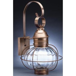 Northeast Lantern Onion 21 Inch Tall Outdoor Wall Light - 2541-AB-MED-CSG found on Bargain Bro from Capitol Lighting for USD $471.27