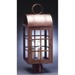 Northeast Lantern Adams 22 Inch Tall 3 Light Outdoor Post Lamp - 6153-AC-LT3-CSG found on Bargain Bro from Capitol Lighting for USD $426.91