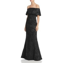 Aidan Mattox Women's Dress Black Size 2 Off Shoulder Shimmer Gown (2)(polyester) found on MODAPINS from Overstock for USD $140.97
