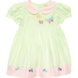Sweetdil Girls' Casual Dresses Mint - Mint Butterfly Peter Pan Collar Cap-Sleeve Dress - Toddler & Girls found on Bargain Bro Philippines from zulily.com for $15.79
