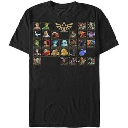 Fifth Sun Men's Tee Shirts BLACK - Legend of Zelda Black Ocarina of Time Character Table Tee - Men found on Bargain Bro India from zulily.com for $15.99