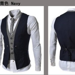 The New Plaid Mixed Colors Mens Slim Casual Vest Jacket found on MODAPINS from Overstock for USD $22.55