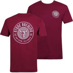 Stone Brewing Criterion Maroon Tee Shirt (S), Men's, Red