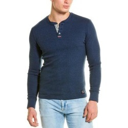 Superdry Heritage Grandad Henley (2XL), Men's, Blue(cotton) found on Bargain Bro Philippines from Overstock for $19.79