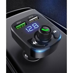 eDooFun Portable Chargers Black - Black Music-Control Two-Port USB Car Charger found on Bargain Bro from zulily.com for USD $13.67