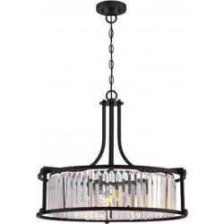 Nuvo Lighting 65771 - 4 Light Aged Bronze Clear Crystal Glass Prisms Pendant Light Fixture (KRYS 4 LIGHT PENDANT) found on Bargain Bro Philippines from eLightBulbs for $455.99