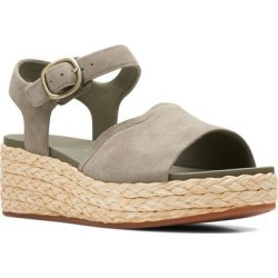 Clarks Kimmei Way Platform Sandal - Natural - Clarks Heels found on Bargain Bro from lyst.com for USD $98.80