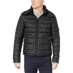 Slate & Stone Mens Richard Quilted Removable Hood Puffer Jacket XXL Black (XXL), Men's(Nylon) found on MODAPINS from Overstock for USD $106.82