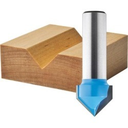 Rockler V-Groove Router Bit - 60°, 1/2Inch Cutting Width, 1/4Inch Shank, Model 23823 found on Bargain Bro from northerntool.com for USD $16.71