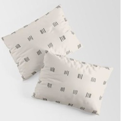 King Size Pillow Sham | Desert Check Small - Charcoal by Urban Wild Studio Supply - STANDARD SET OF 2 - Cotton - Society6 found on Bargain Bro from Society6 for USD $30.39