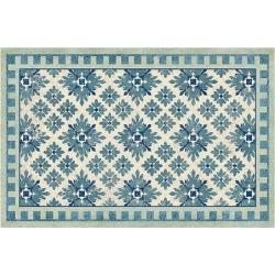 Diamond Tile Floor Mat Blue 4' x 6' - Ballard Designs found on Bargain Bro from Ballard Designs for USD $166.44
