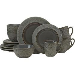 Gourmet Basics by Mikasa Neera Grey 16-piece Dinnerware Set found on Bargain Bro India from Overstock for $71.99