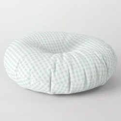 Floor Pillow | Gingham In Sage by Jordyn St. John - ROUND - 30