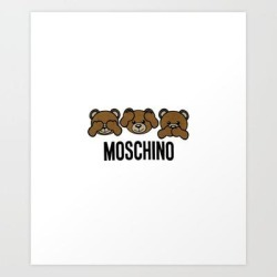 Moschino Art Print by Storeusa - X-Small found on Bargain Bro India from Society6 for $15.19