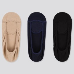 UNIQLO Women's Square Cut Footsies (3 Pairs), Beige, 25-27cm found on Bargain Bro Philippines from Uniqlo for $12.90