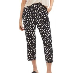 Plus Size Women's Tie-Front Capri by ellos in Black Ivory Print (Size 22/24) found on Bargain Bro Philippines from Ellos for $31.90