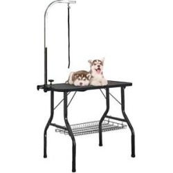 Vecelo Professional Dog Grooming Table, Black