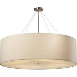 Justice Design Group Classic 48 Inch Large Pendant - FAB-9597-CREM-NCKL found on Bargain Bro from Capitol Lighting for USD $1,062.48