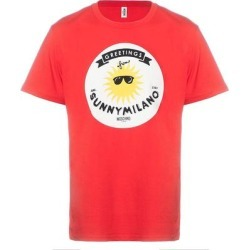 petite Moschino Swim Men's Graphic T-Shirt Cotton Sunny Milano, Red (XL) found on Bargain Bro from Overstock for USD $96.52