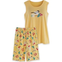 Women's Plus Sweet Dreams Short Pajama Set, Banana Chickadee 3XL found on Bargain Bro from Blair.com for USD $19.75