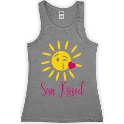 Urban Smalls Girls' Tank Tops Heather - Heather Gray 'Sun Kissed' Sun Emoji Racerback Tank - Toddler & Girls found on Bargain Bro from zulily.com for USD $9.11