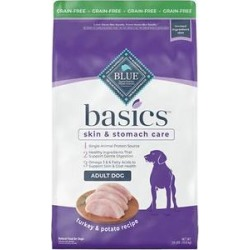 Blue Buffalo Basics Limited Ingredient Grain-Free Turkey & Potato Adult Dry Dog Food, 24-lb found on Bargain Bro from Chewy.com for USD $43.30