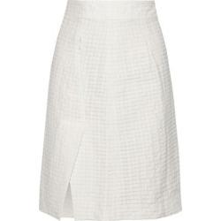 Knee Length Skirt - White - Akris Skirts found on MODAPINS from lyst.com for USD $890.00