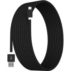 Tech Zebra Micro USB Cables Black - Black 10' Micro-USB Charging Cable found on Bargain Bro Philippines from zulily.com for $9.49