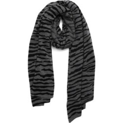 Animal Print Cashmere Scarf - Gray - Nordstrom Scarves found on Bargain Bro from lyst.com for USD $64.60