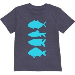 Urban Smalls Boys' Tee Shirts Heather - Heather Navy Fish Tee - Toddler & Boys found on Bargain Bro from zulily.com for USD $9.11