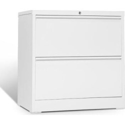 Inbox Zero Folding 2-Drawer Lateral Filing Cabinet Metal/Steel in Gray/White, Size 28.3 H x 28.0 W x 17.7 D in | Wayfair found on Bargain Bro Philippines from Wayfair for $429.99