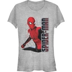 Fifth Sun Women's Tee Shirts ATH - Spider-Man: Far from Home Athletic Heather Spider Webs Tee - Women found on Bargain Bro India from zulily.com for $16.99
