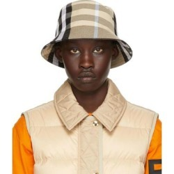 Beige Check Jacquard Bucket Hat - Natural - Burberry Hats found on Bargain Bro from lyst.com for USD $349.60