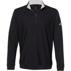 Adidas Men's Performance Quarter Zip Pullover, Assorted Colors (Large - Black)(jersey, Solid) found on Bargain Bro from Overstock for USD $58.51