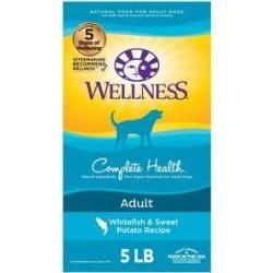 Wellness Complete Health Adult Whitefish & Sweet Potato Recipe Dry Dog Food, 5-lb bag