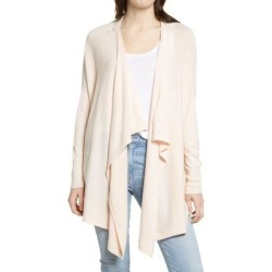 Drape Front Cardigan - Pink - Nordstrom Knitwear found on Bargain Bro from lyst.com for USD $52.44