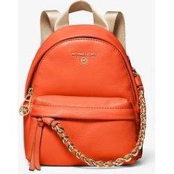 Michael Kors Slater Extra-Small Pebbled Leather Convertible Backpack Orange One Size found on Bargain Bro Philippines from Michael Kors for $258.00