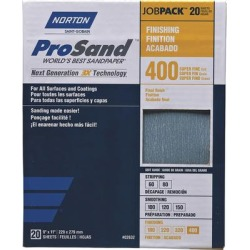 Norton ProSand Sandpaper - 20-Pack, 400 Grit, 9Inch W x 11Inch L found on Bargain Bro from northerntool.com for USD $11.39