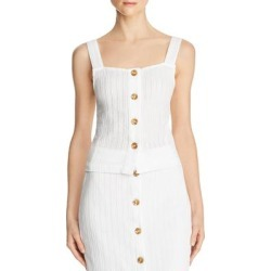 DL1961 Womens Crop Top Cotton Sleeveless - White Eyelet found on Bargain Bro India from Overstock for $34.94