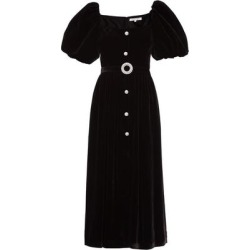 Hazel Puff-sleeve Crystal-embellished Velvet Dress - Black - Borgo De Nor Dresses found on MODAPINS from lyst.com for USD $910.00