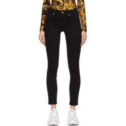 Black Leggings Jeans - Black - Versace Jeans Jeans found on Bargain Bro from lyst.com for USD $171.00