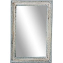 White Wood Farmhouse Wall Mirror, 48 x 32 - 22336 found on Bargain Bro Philippines from totally furniture for $263.99