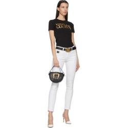 Black 'v' Emblem Belt - Black - Versace Jeans Belts found on Bargain Bro from lyst.com for USD $114.00
