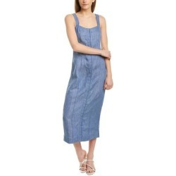 Mara Hoffman Irena Linen Midi Dress (4), Women's, Blue found on MODAPINS from Overstock for USD $186.99