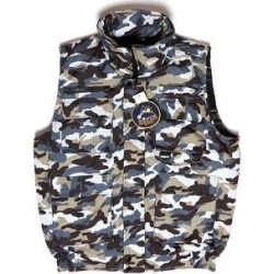 MenÕs Cargo Camo Vest Zip-up With 9 Pockets Hunting Tactical Oscar Sports (Grey Beige White Camo - S), Men's, Gray found on Bargain Bro India from Overstock for $30.36