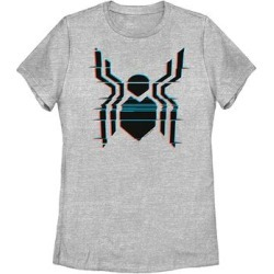 Fifth Sun Women's Tee Shirts ATH - Spider-Man: Far from Home Athletic Heather Glitch Spider Logo Tee - Women & Plus found on Bargain Bro India from zulily.com for $18.97